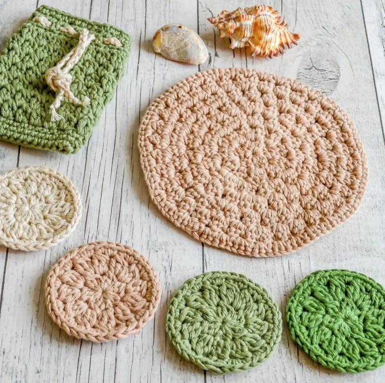 Crochet bath set, Etsy