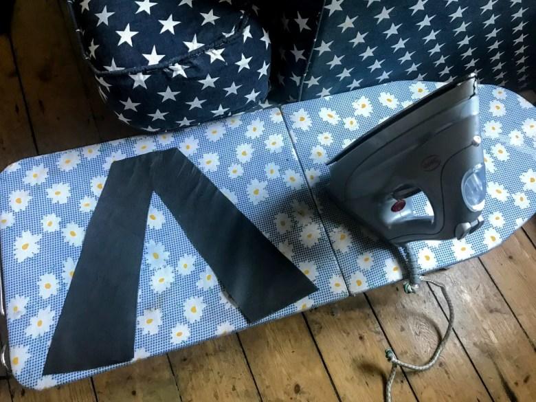 Ironing on fusible interfacing
