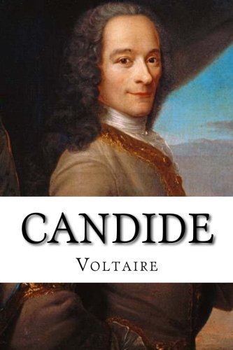 An image displaying the book Candide written by voltaire. An ideal book for people travelling through europe