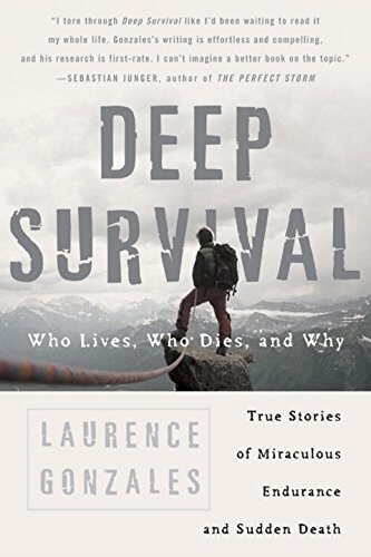 The paperback cover of the book Deep survival