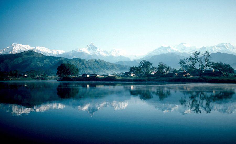 An enchanting image of the Pokhara and Phewa Lake