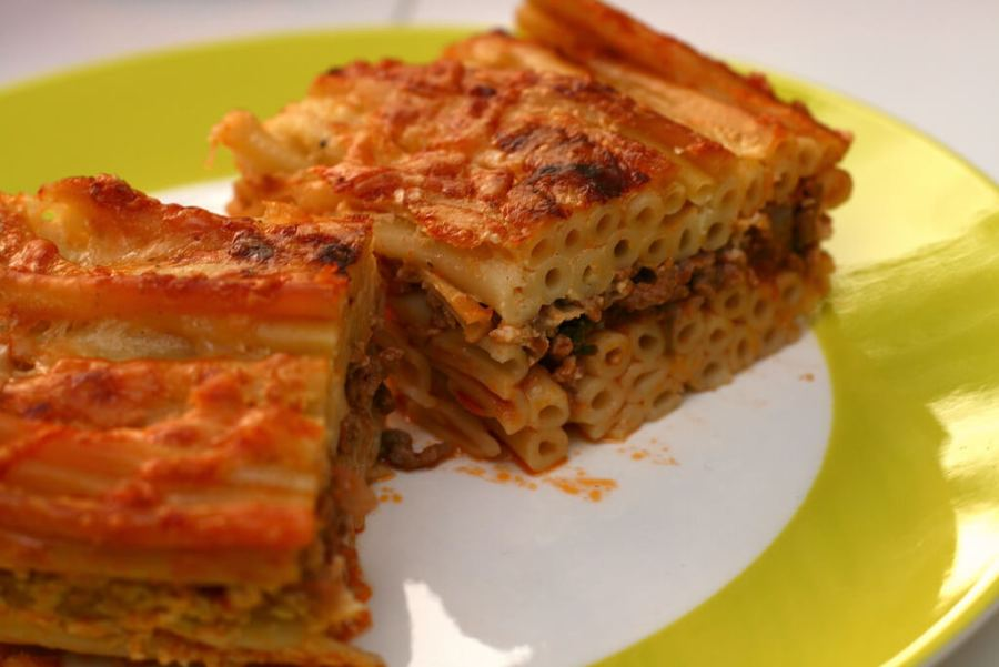 An image of Pastitsio, which is traditional Greek food