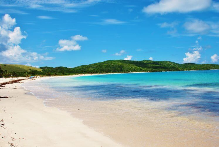A view of the flamenco beach. Voted 2nd most beautiful beach on the planet