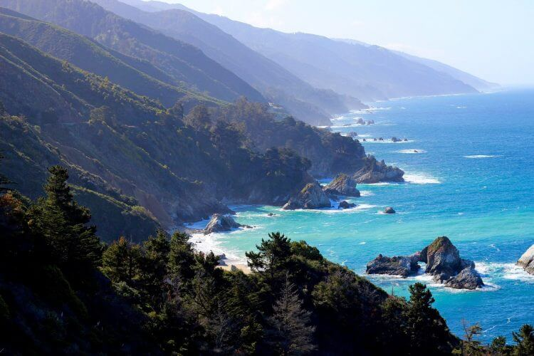 An image of big sur in California. One of the most sought after camp sites