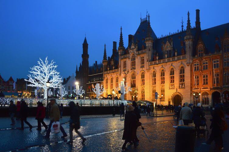 A picture of the famous Markt square situated in Bruges