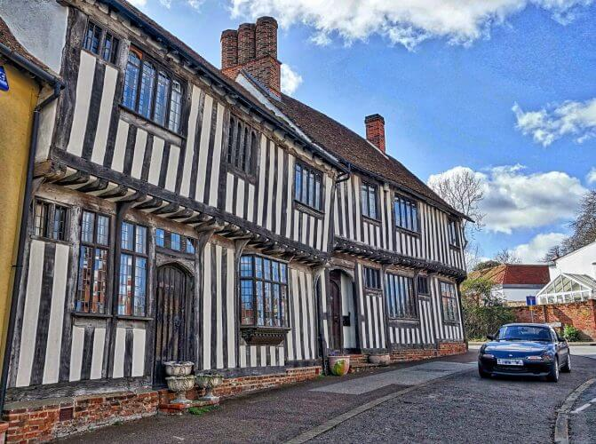 A set of medieval houses in Lavenham, England