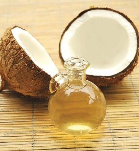 An image of a coconut and a coconut oil