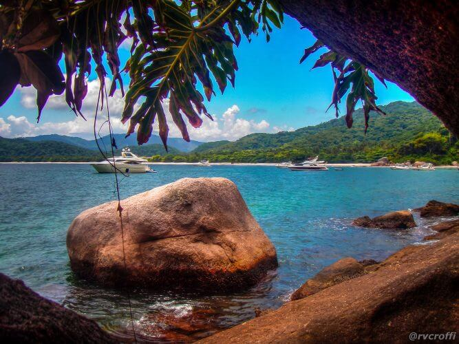 A shot of the serene Ilha Grande