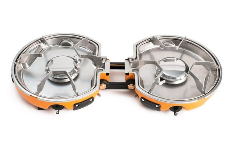 A picture of the 2nd stove by Jetboil on our list which has a 2 burner system