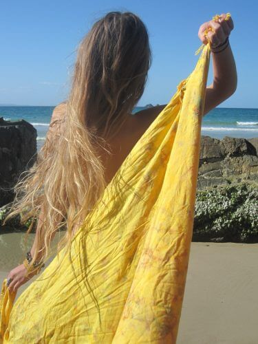 A picture of a girl wearing a Sarong