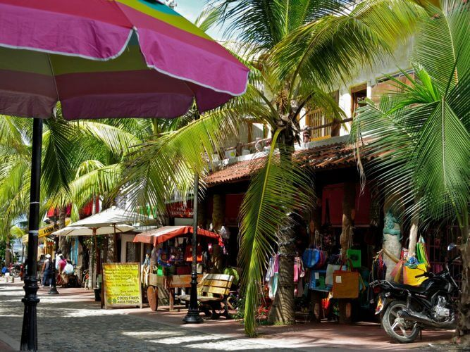 A shot of the Sayulita Village in Mexico