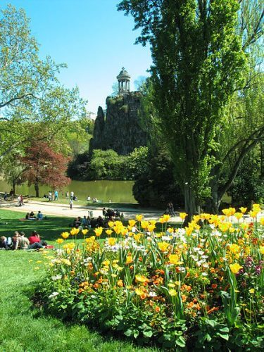 The beautiful Parc des Buttes Chaumont is pictured here