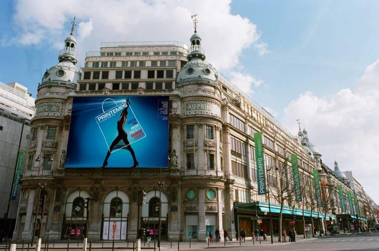 The Printemps shopping centre in Paris is captured in this picture