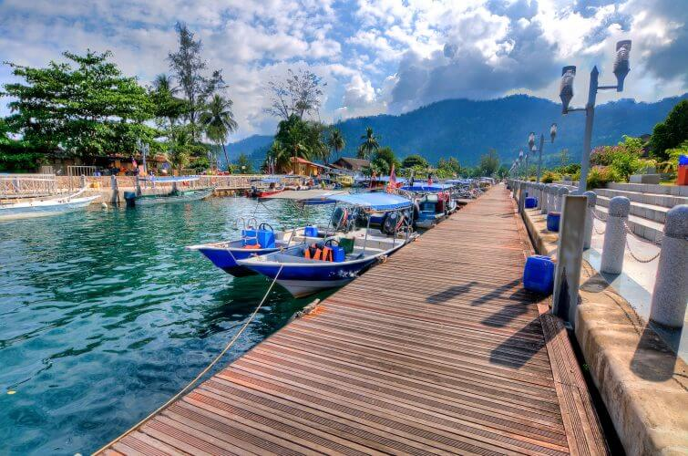The Kg. Tekek Jetty in Tioman Island is shown in this picture