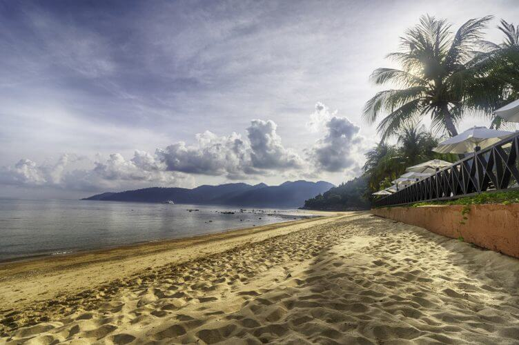 The majestic beach on Tioman Island in Malaysia is seen in this image