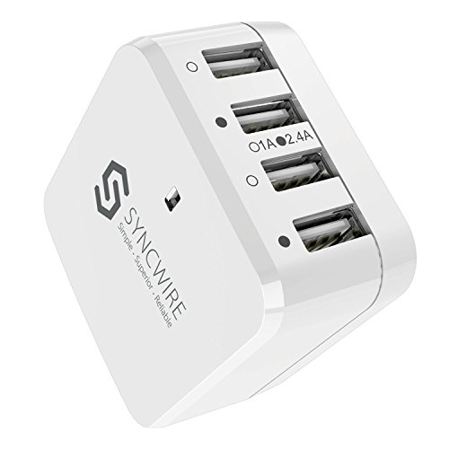 3. USB Wall Charger Plug with Adapters by Syncwire