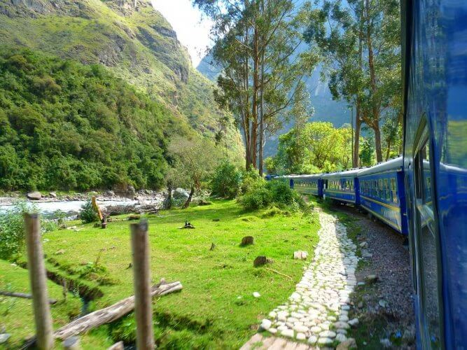 The Peruvian train towards Machu Picchu