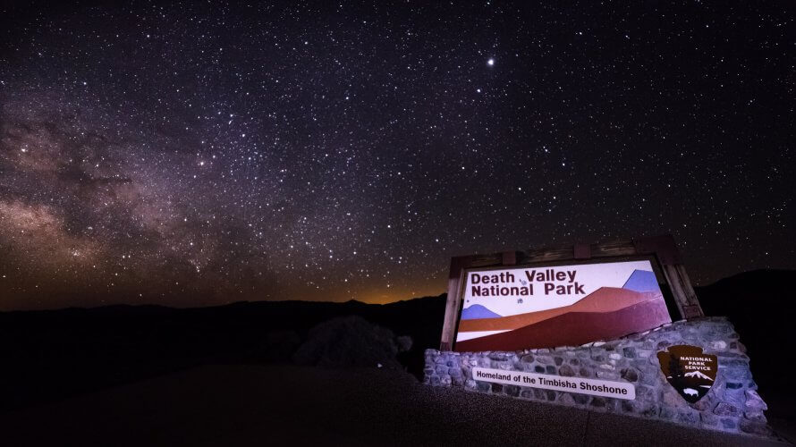 A picture of the night sky at the Death Valley National Park