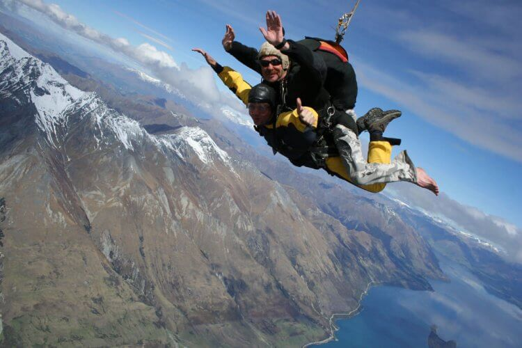 The view from Skydiving in Queenstown New zealand