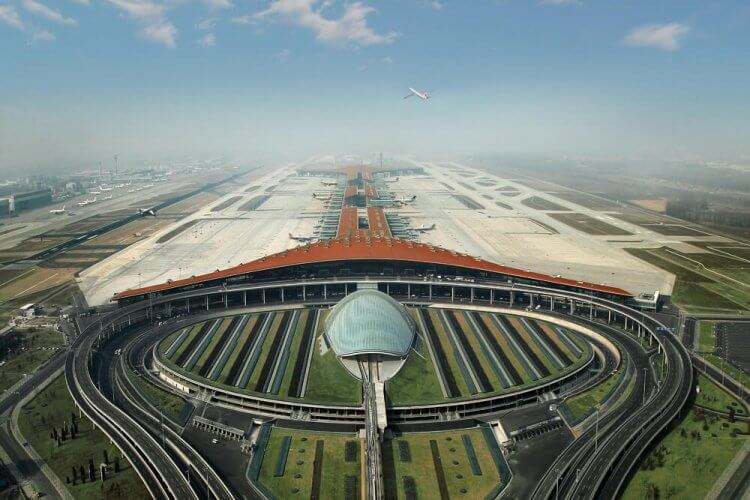 Beijing Capital International Airport is shown here