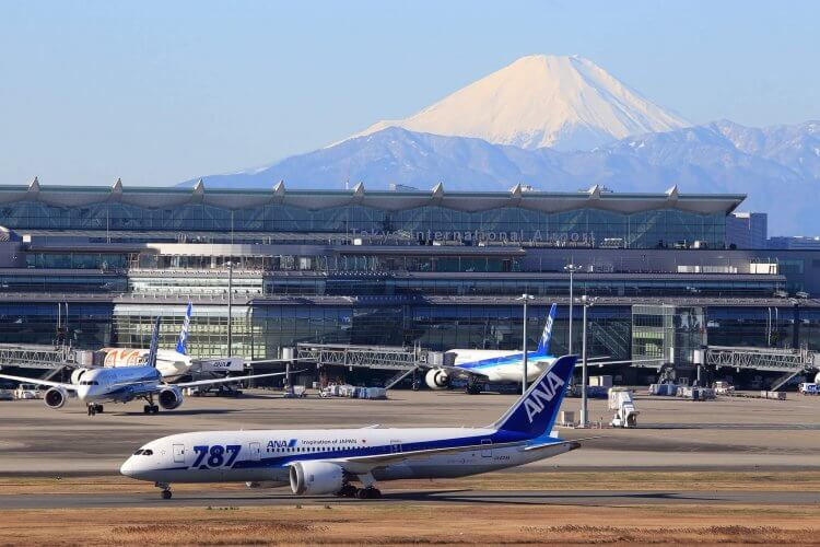 Tokyo Haneda Internaional Airport is pictured here