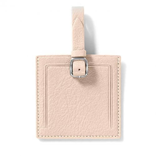 4. Square Luggage Tags by Leatherology