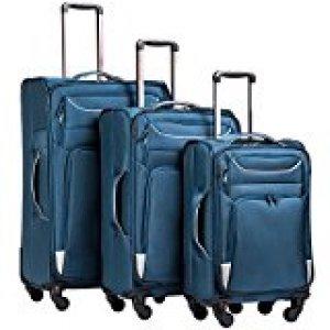 Coolife soft side luggage set of 3
