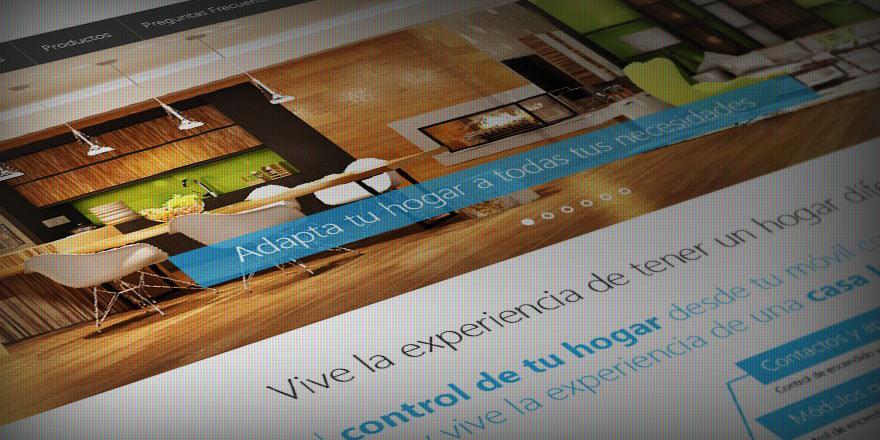 Diseño de página web GOME, automatización comercial y residencial