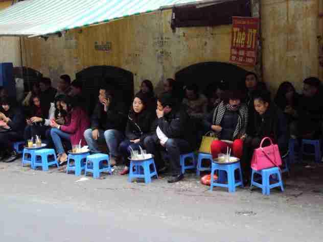 Frühstück in Hanoi