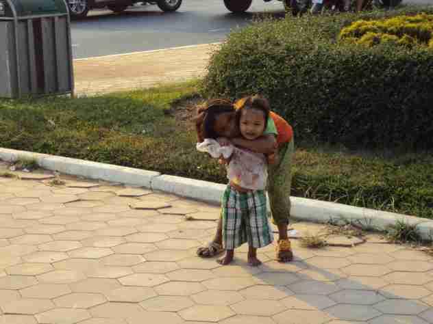 Strassenkinder in Phnom Penh