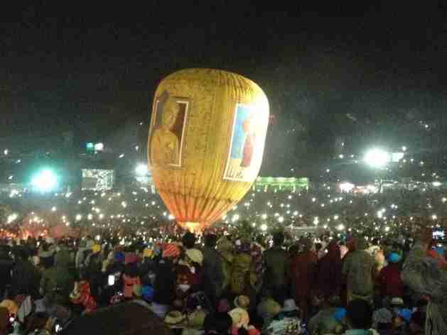 Ballon bereit zum Fliegen