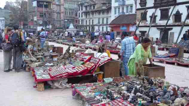 Verkaufsstände am Durbar Square