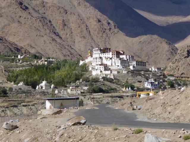 getting nearer - the monastery