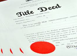 Title deed under the RLA LAND REGISTRATION ACT