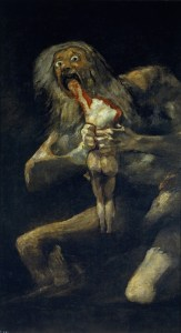 "Goya, ""Saturn Devouring One of His Sons,"" 1819 - 1823"