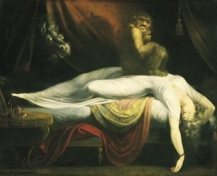 "Used and imitated on more book covers than perhaps any other painting, Henry Fuseli's ""The Nightmare"" may be the definitive painting on the subject, at least from a Romantic point of view."