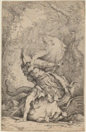 "Salvator Rosa's often demonic imagery isn't widely represented on Artsy, but that it makes an appearance is impressive. Here's ""Jason and the Dragon, 1663 - 1664."