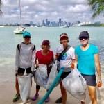 Joyce Landry at Beach Clean
