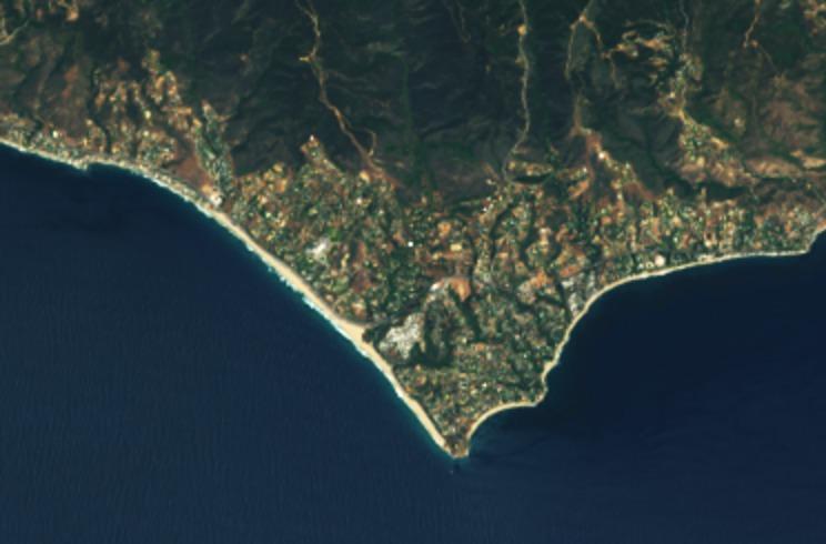 Malibu dari Landsat 8