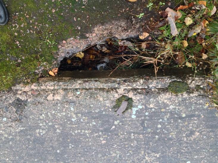 Mellan asfalten och betongen på kajen finns det flera hål.