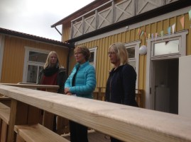 Personalen på förskolan hälsade välkommen och berättade om utbyggnaden och arbetet.