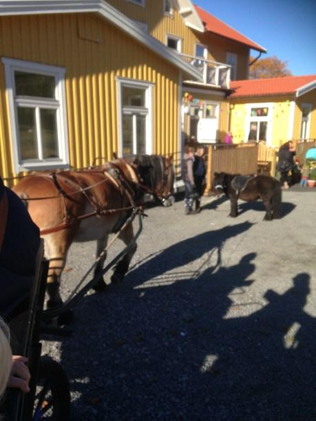 På plats fanns även hästen Totte som drog runt på glada barn och föräldrar.