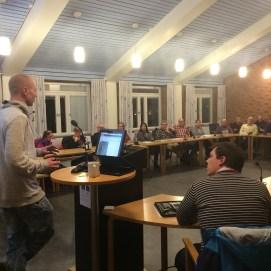 Eric Karlsson från VMEAB berättade om arbetet.