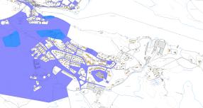 Kommunen äger nästan bara mark i västra Gunnebo. I öster ägs fortfarande det mesta av bruket.