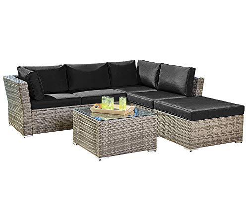 Suncrown Outdoor Furniture Sectional Sofa (4-Piece Set