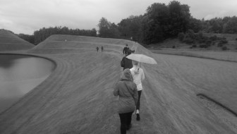 Walking the Snake Mound, Garden of Cosmic Speculation, Portrack House