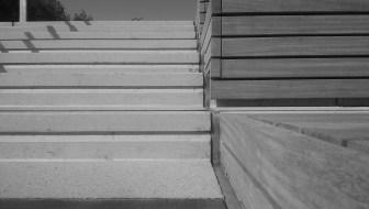Stair detail, Queen Elizabeth Olympic Park, London