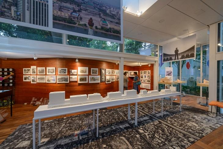 Korea Pavilion featuring the Crow's Eye View: The Korean Peninsula exhibit.