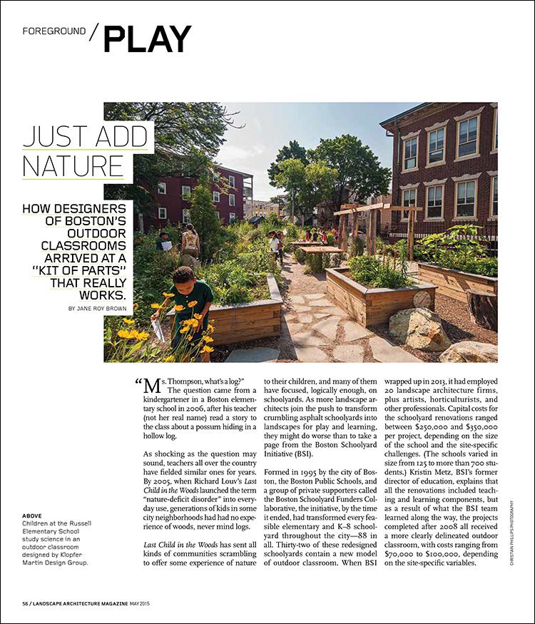 Outdoor Classroom Design Guide Landscape Architecture Magazine