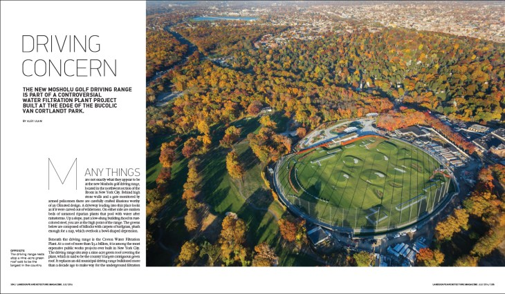 The new Mosholu Golf Driving Range is part of a controversial water filtration plant project built at the edge of the bucolic Van Cortlandt Park.